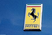 Ferrari 250 Emblem - blue