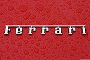 Ferrari Logo - writing - red - rain