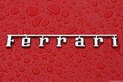 Ferrari Logo - Schriftzug - rot - Regen